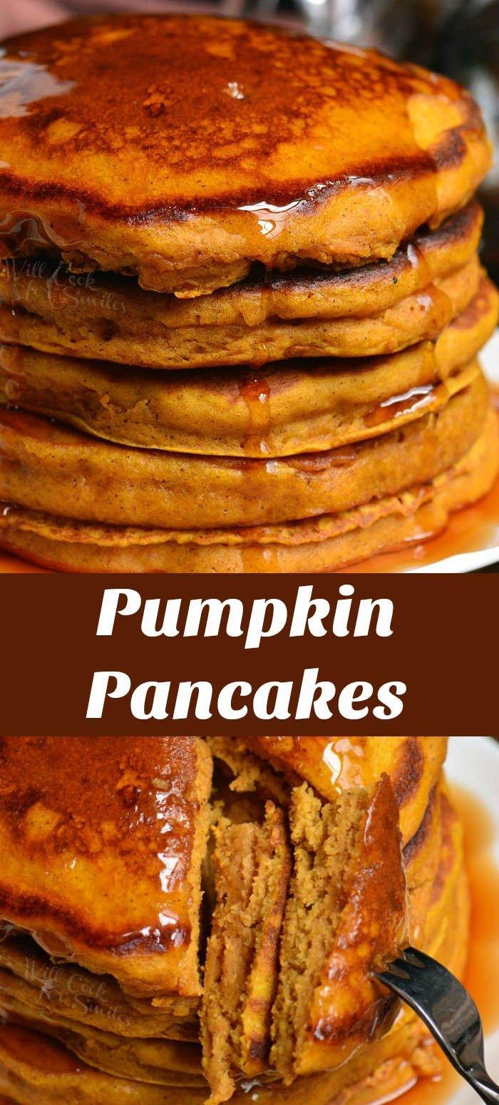 pumpkin pancakes collage