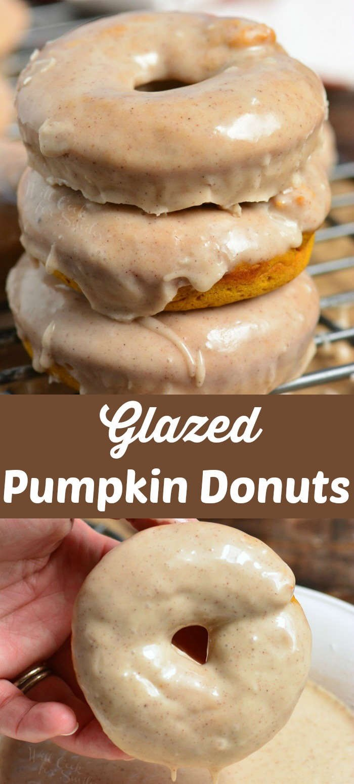 pumpkin donuts collage