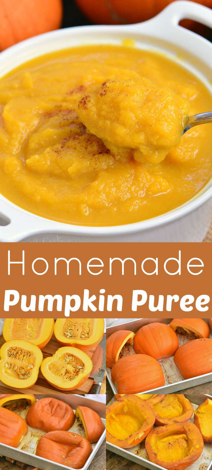 pumpkin puree collage