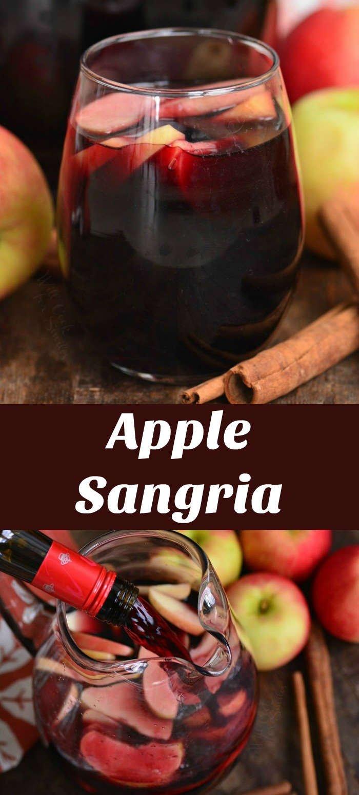 apple sangria collage