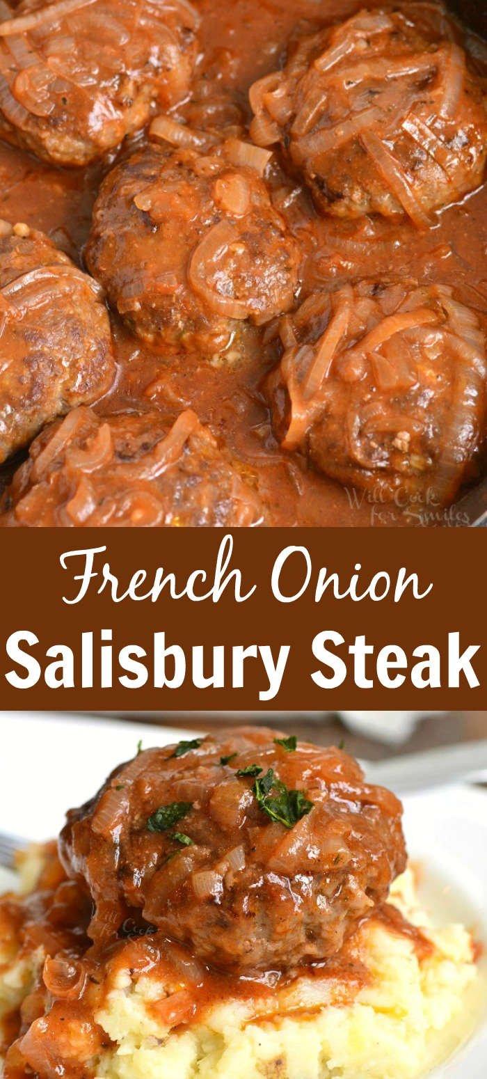 salisbury steak collage
