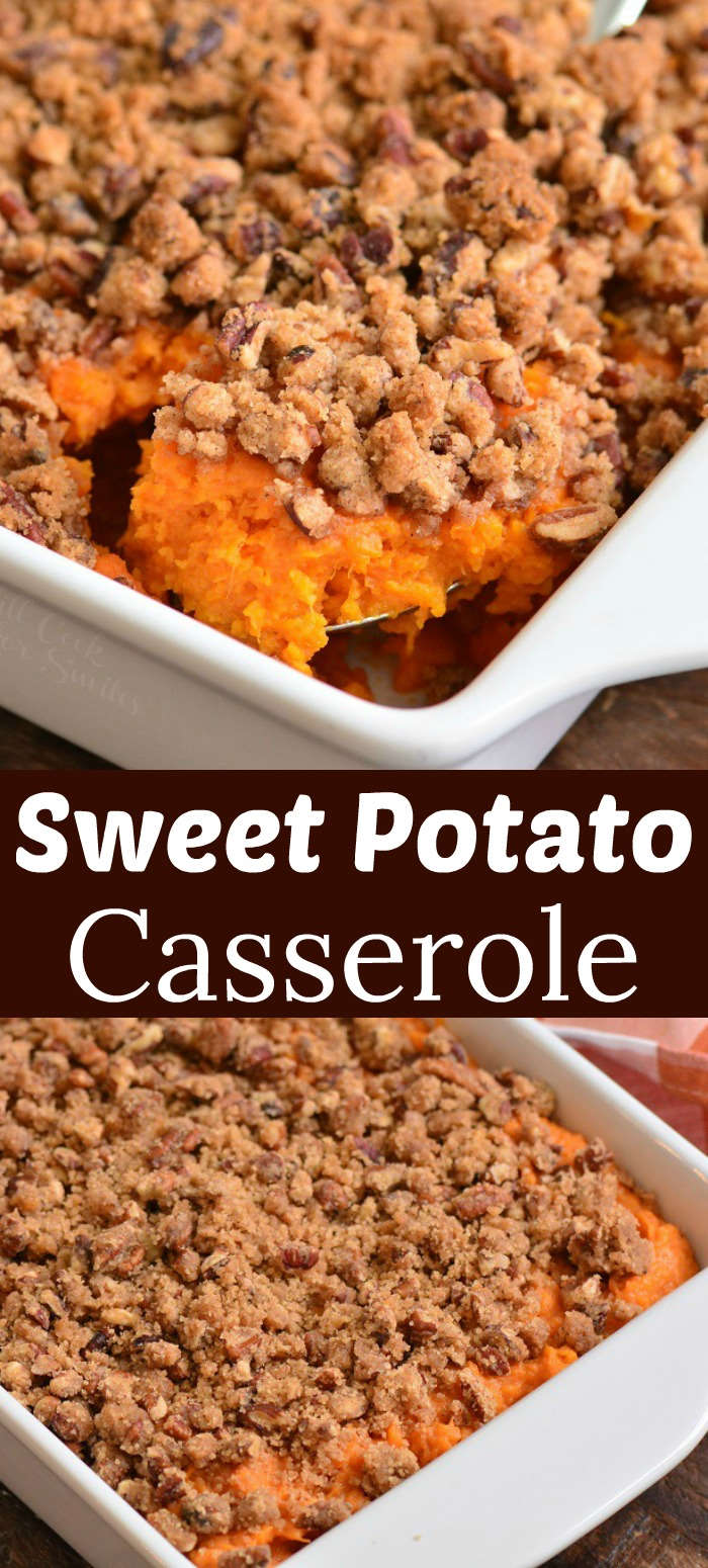 sweet potato casserole collage