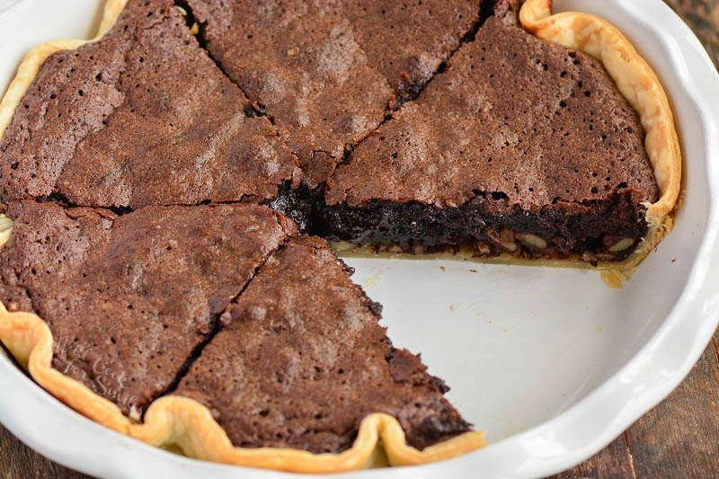 brownie pie cut