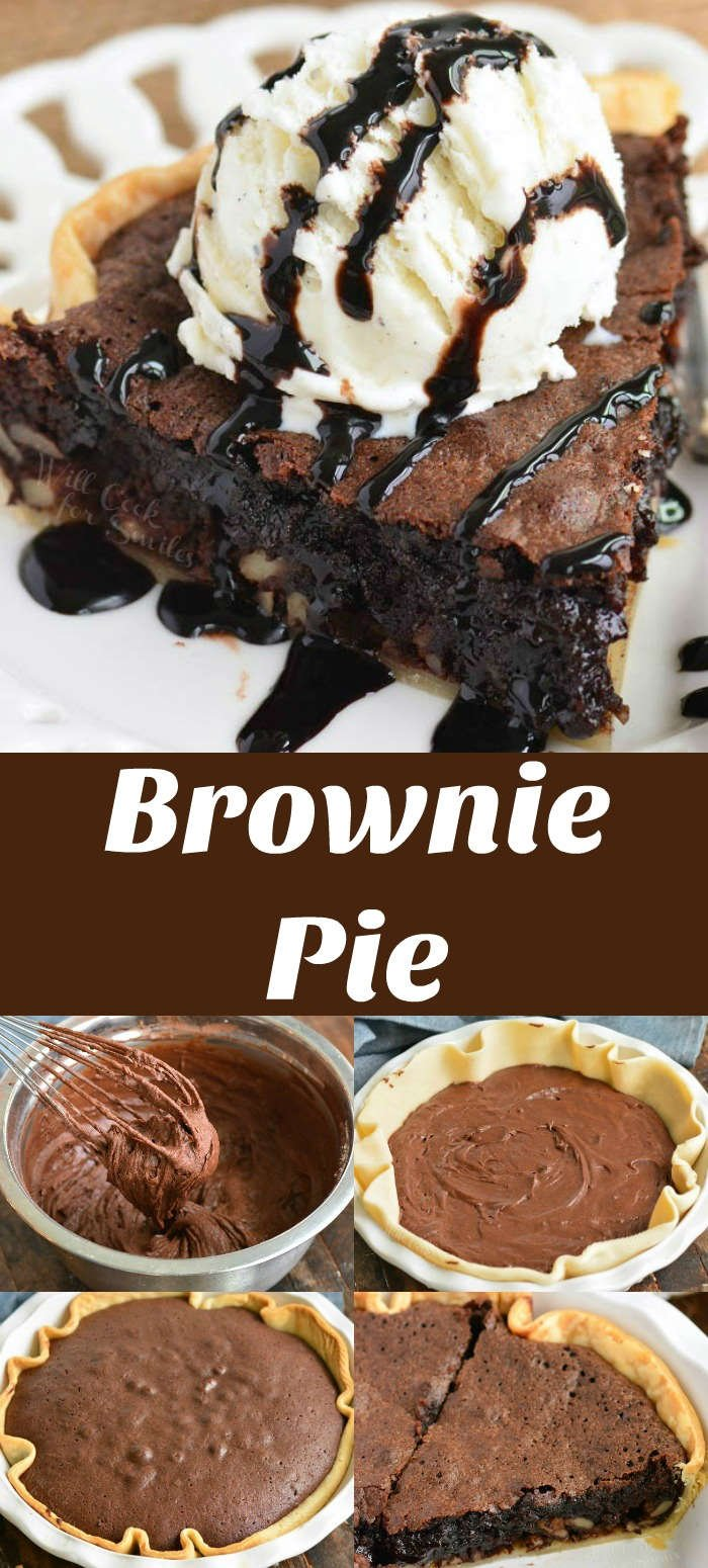 brownie pie collage