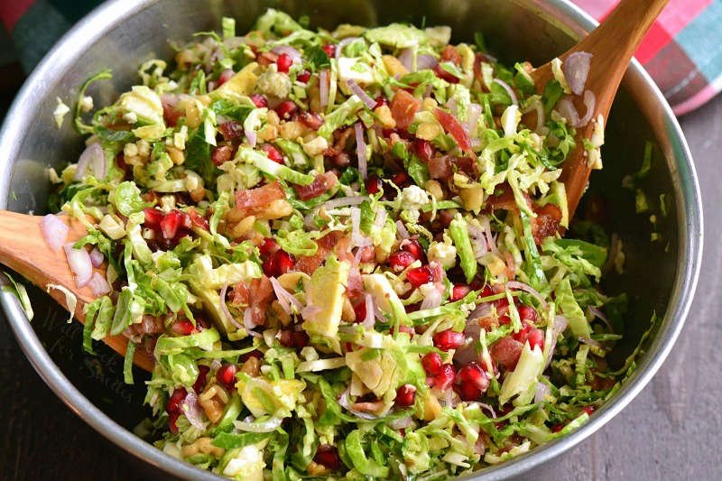 toss the ingredients of salad together in a bowl