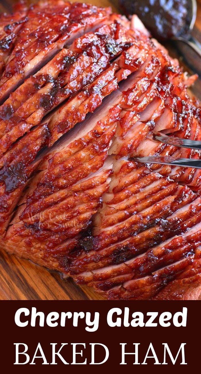 baked ham with cherry ham glaze