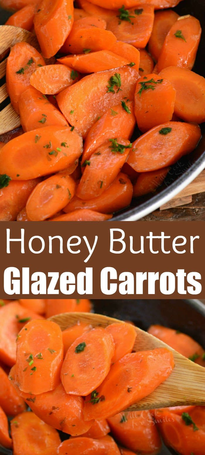 glazed carrots collage