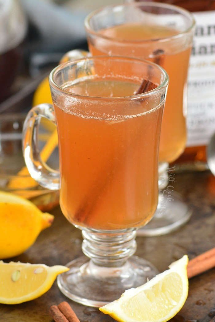 hot toddy filled glasses