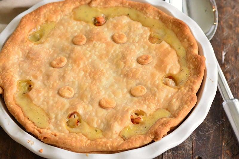 turkey pot pie cooked horizontal
