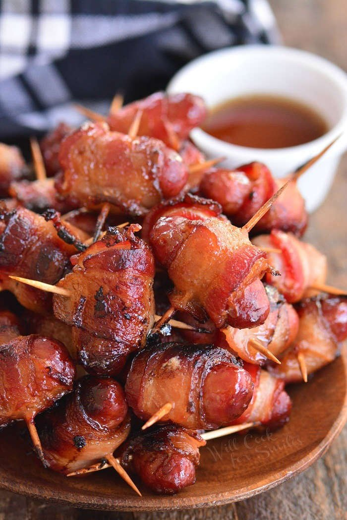 bacon wrapped little smokies horizontal