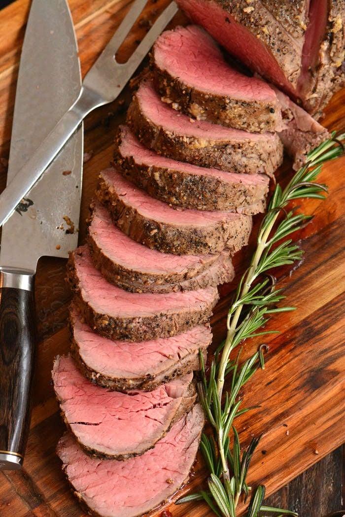 sliced beef tenderloin
