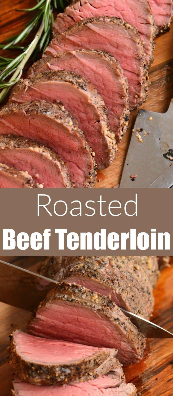 beef tenderloin collage
