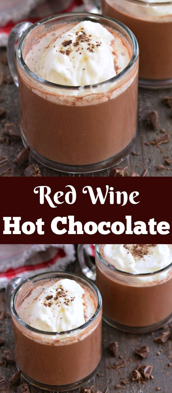 red wine hot chocolate collage