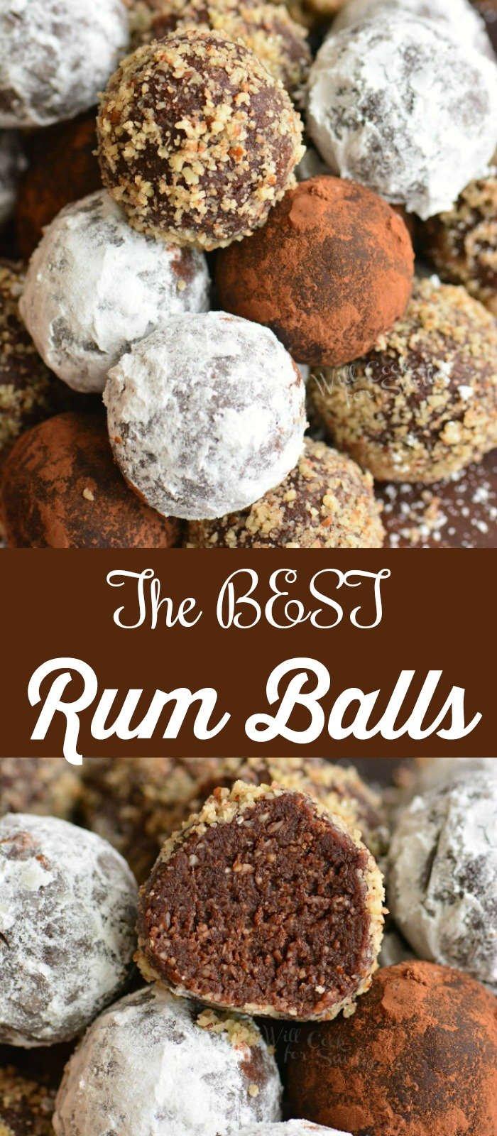 rum balls collage