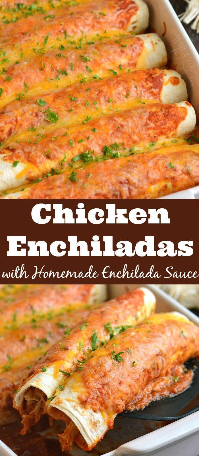 chicken enchiladas collage