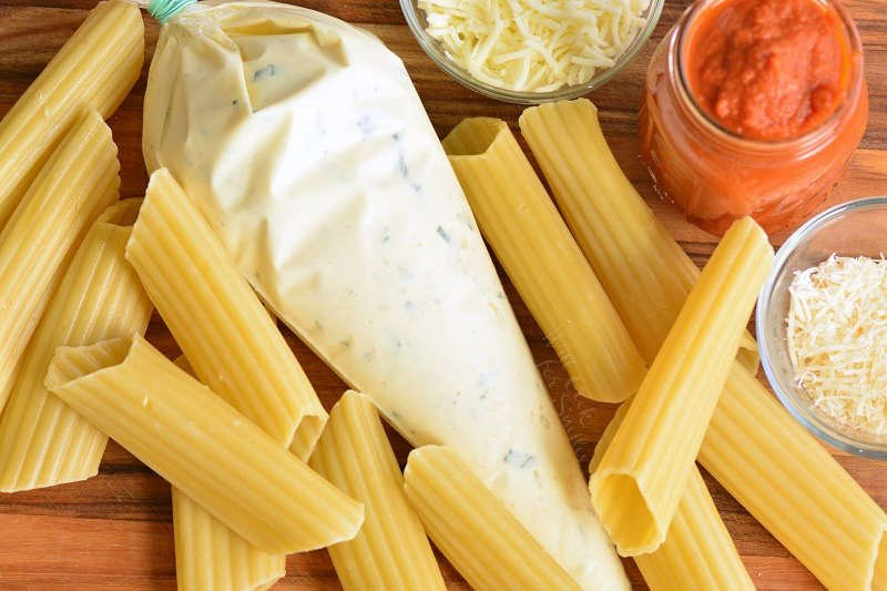 ingredients for manicotti