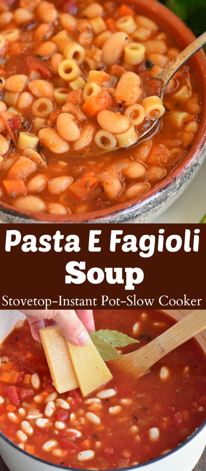 pasta e fagioli soup collage