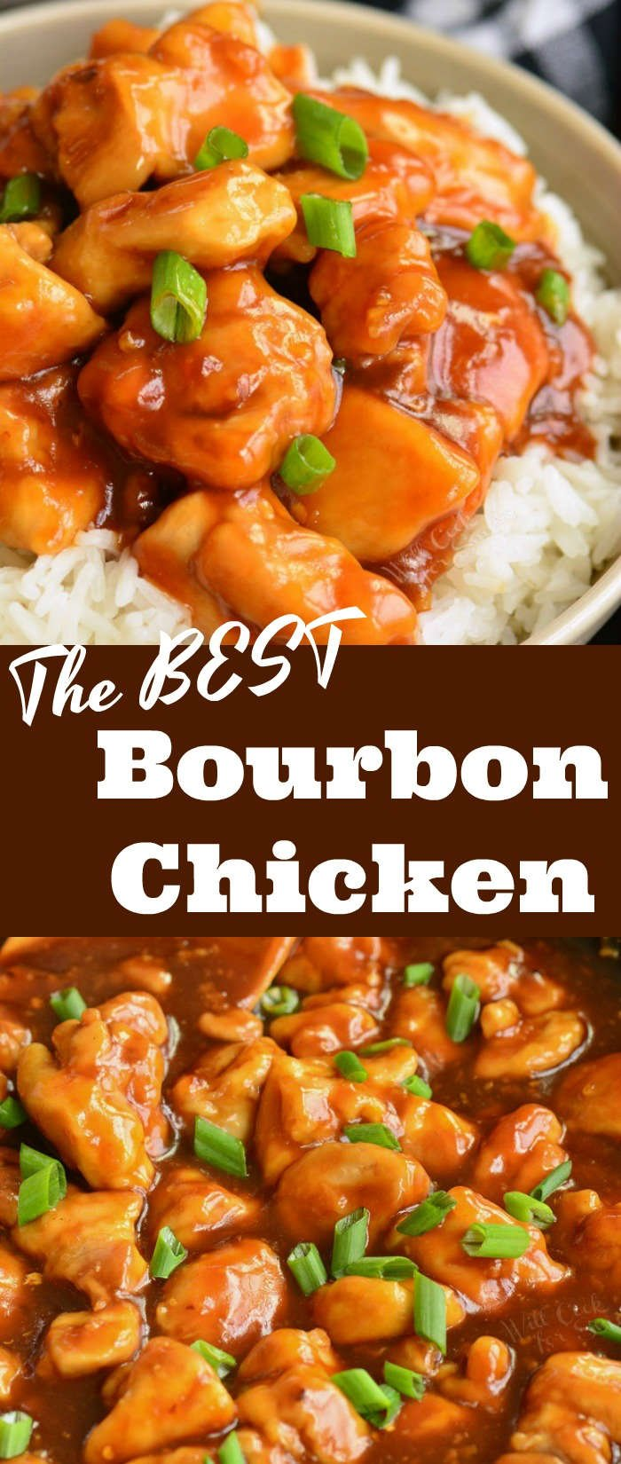 bourbon chicken long collage