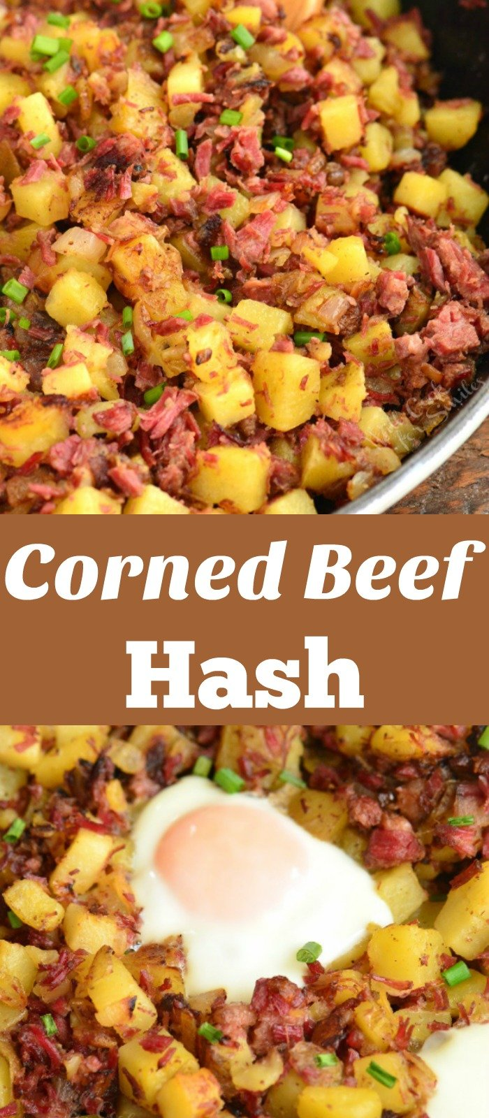 corned beef hash long collage