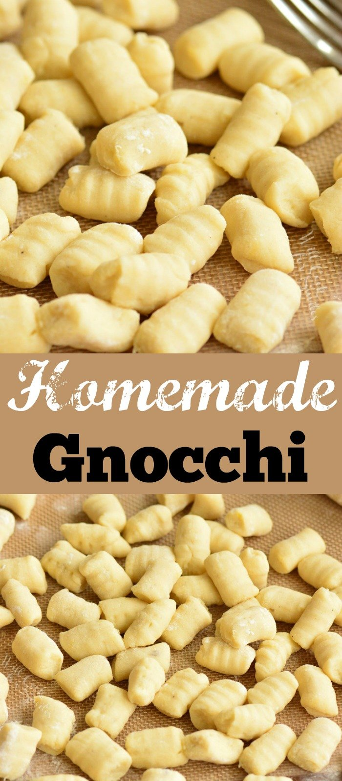 homemade gnocchi long collage