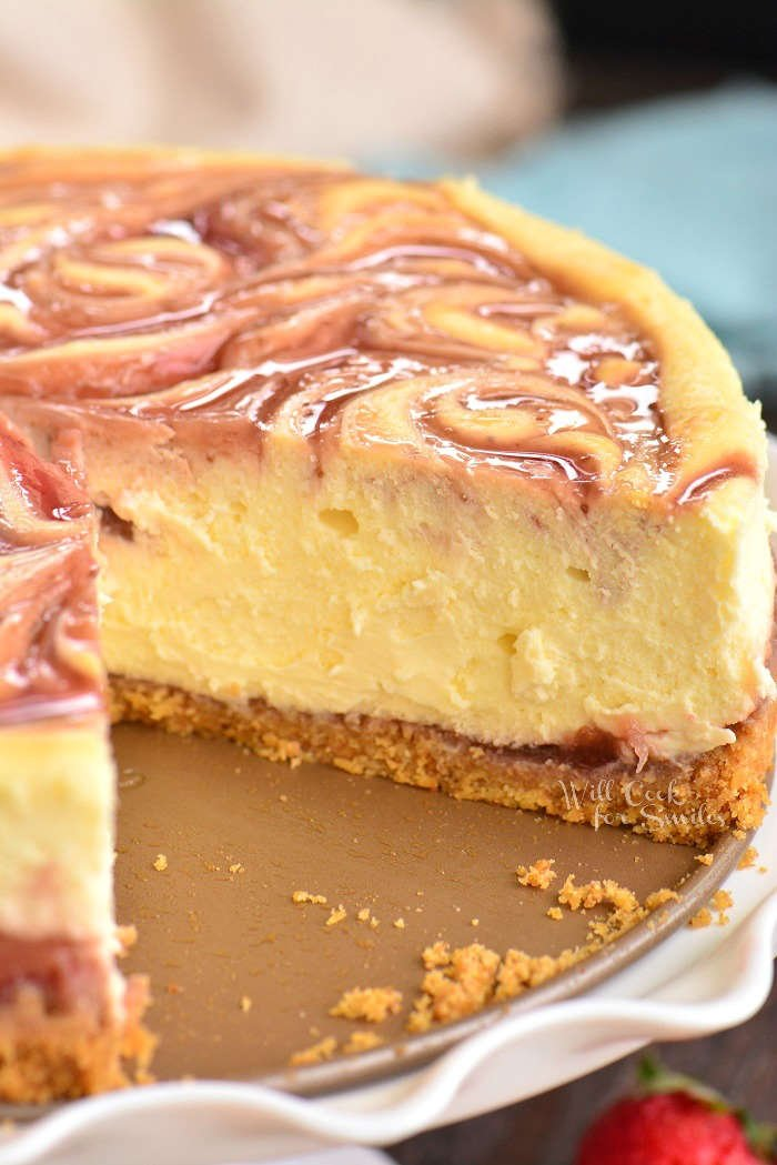cheesecake with slice cut out