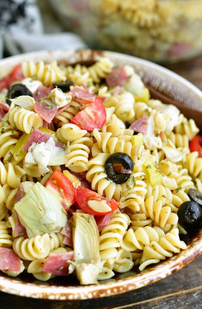 Antipasto Pasta Salad bowl