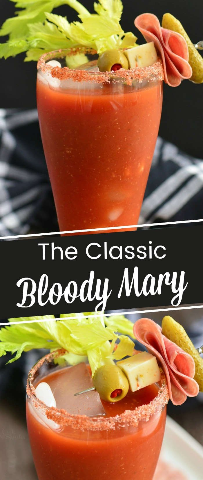 titled photo collage: The Classic Bloody Mary