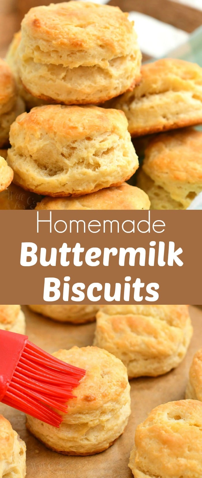 titled photo collage - homemade buttermilk biscuits