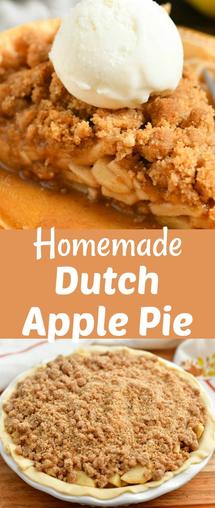 titled photo collage - Homemade Dutch Apple Pie
