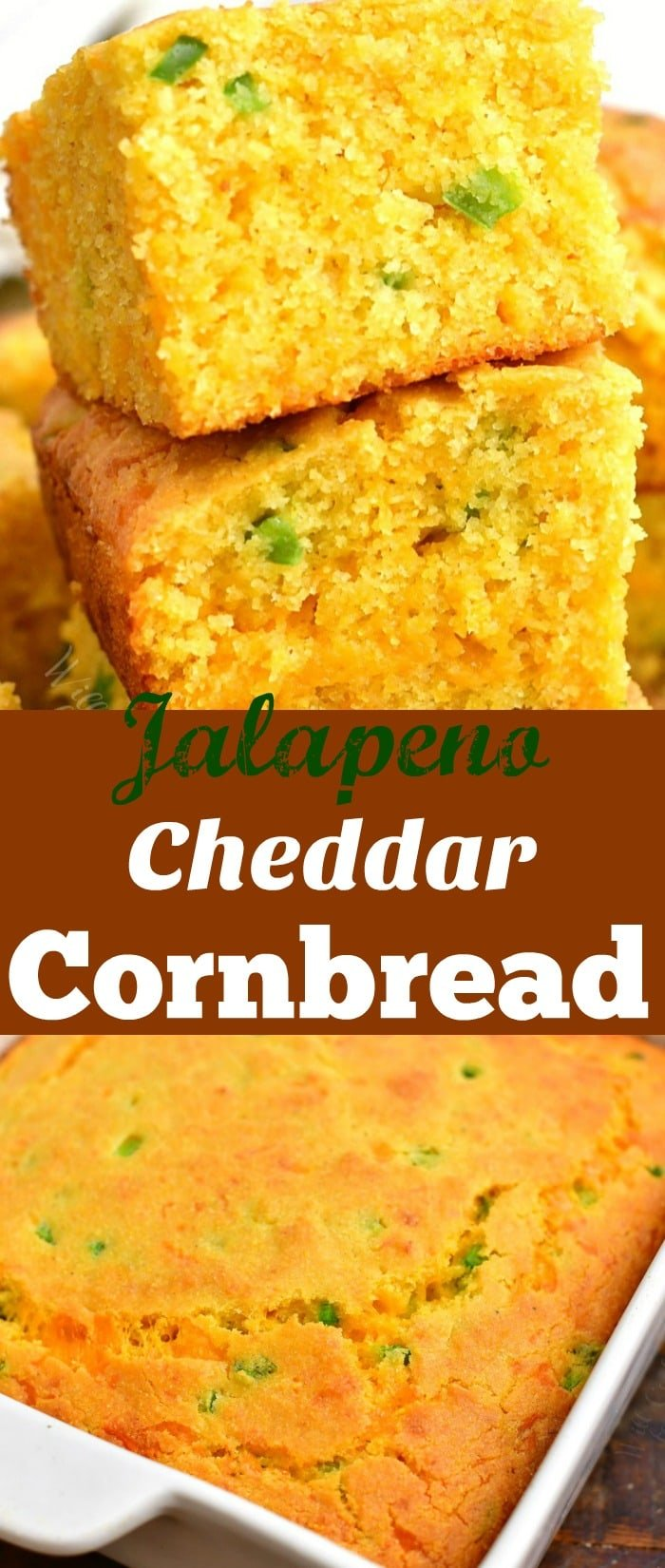 titled photo collage - Jalapeno Cheddar Cornbread