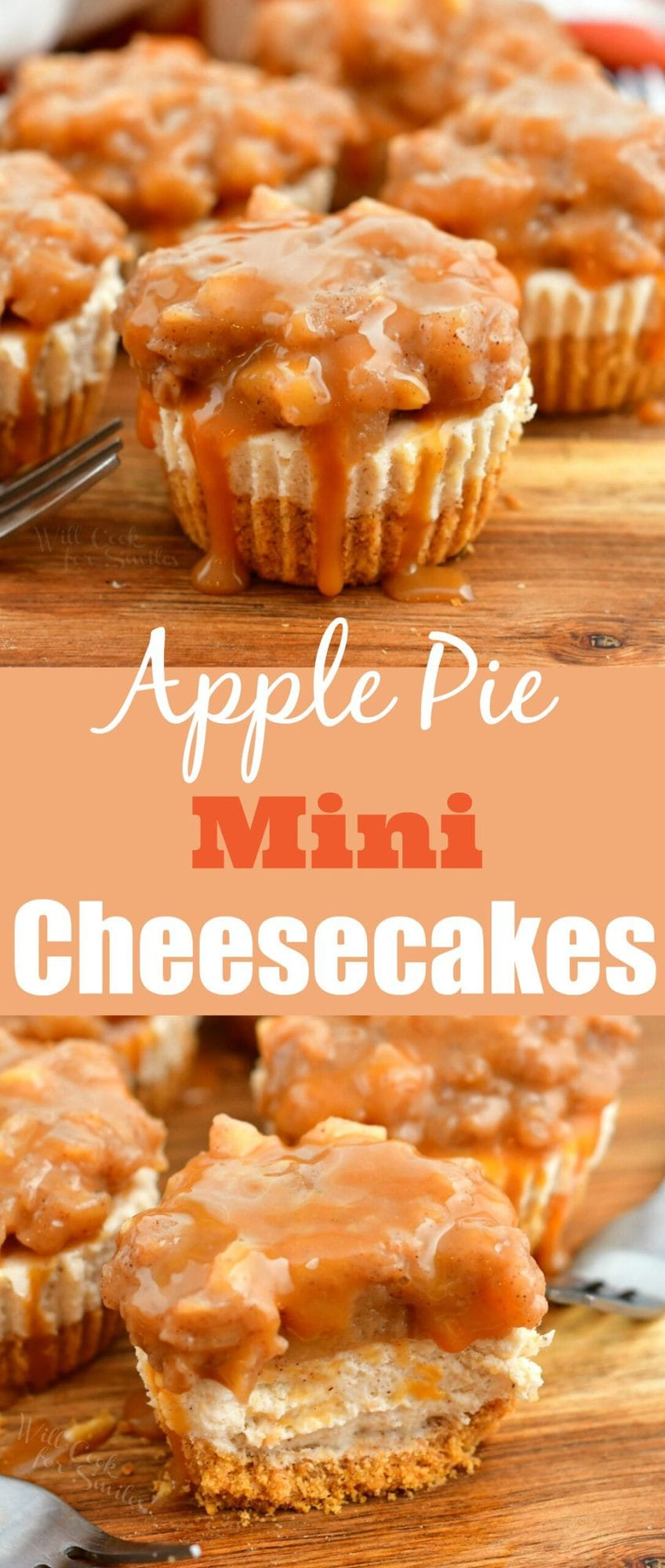 titled image (and shown): Apple Pie Mini Cheesecakes