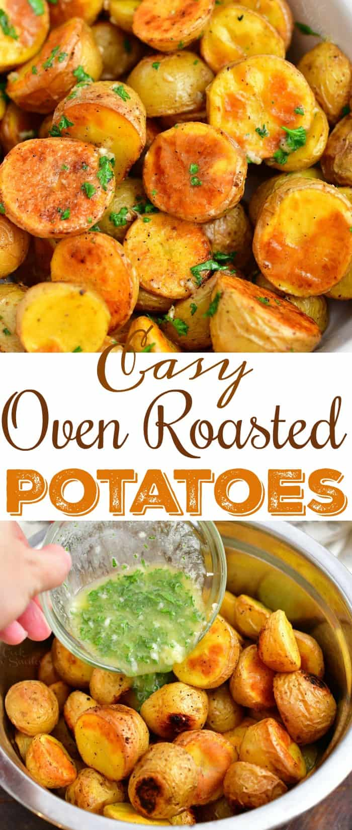 Titled photo (and shown): Cozy Oven Roasted Potatoes