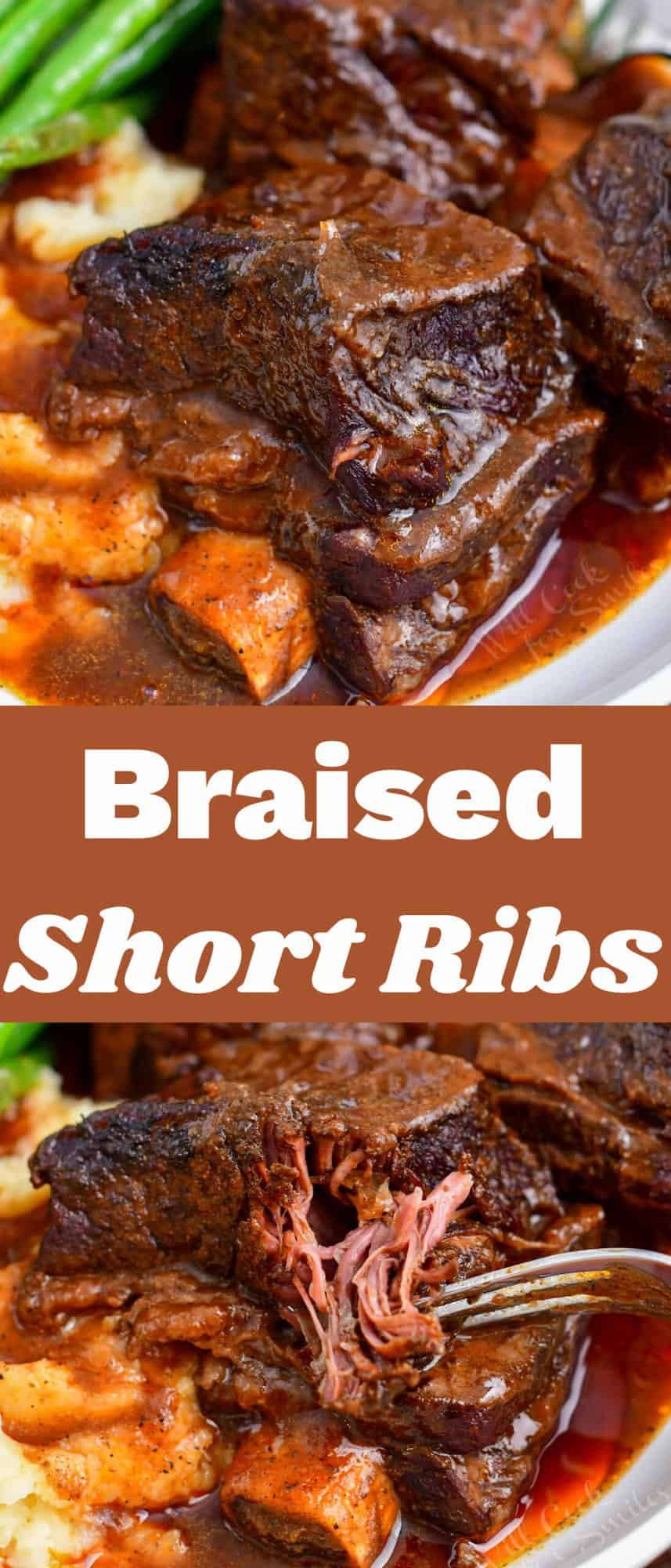 titled Pinterest image (and shown): Braised Short Ribs