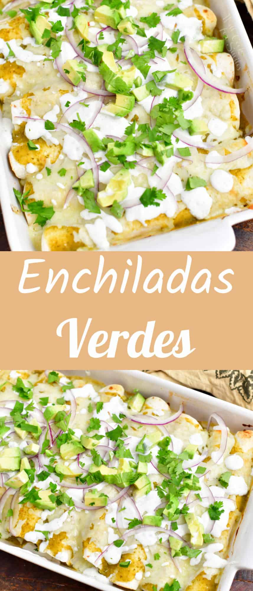 titled photo collage (and shown): enchiladas verdes