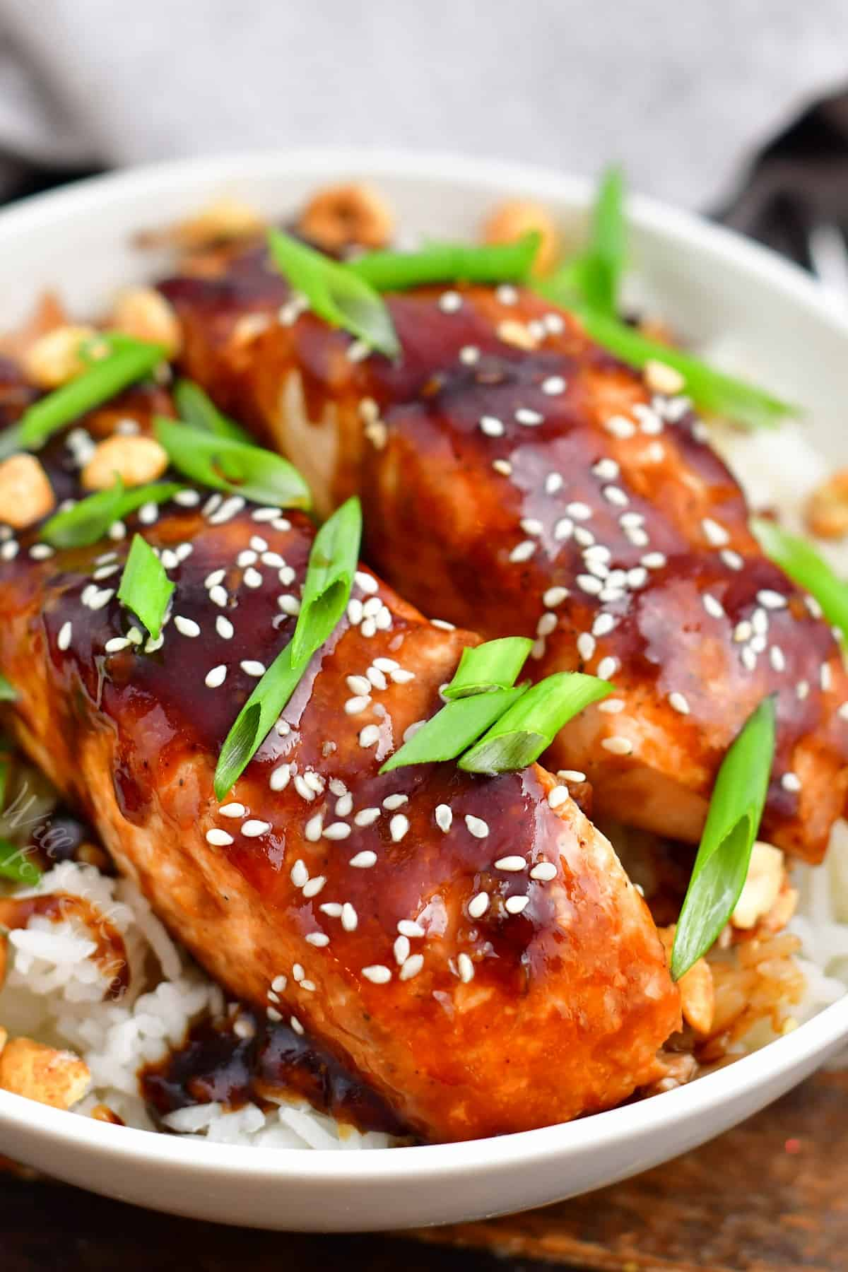 Teriyaki Salmon Pan Seared And Baked Will Cook For Smiles