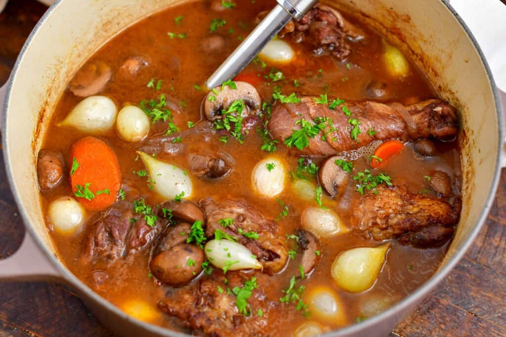 cooked French chicken recipe in dutch oven