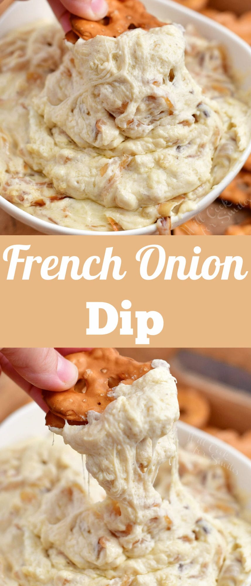titled photo collage (and shown): French Onion Dip