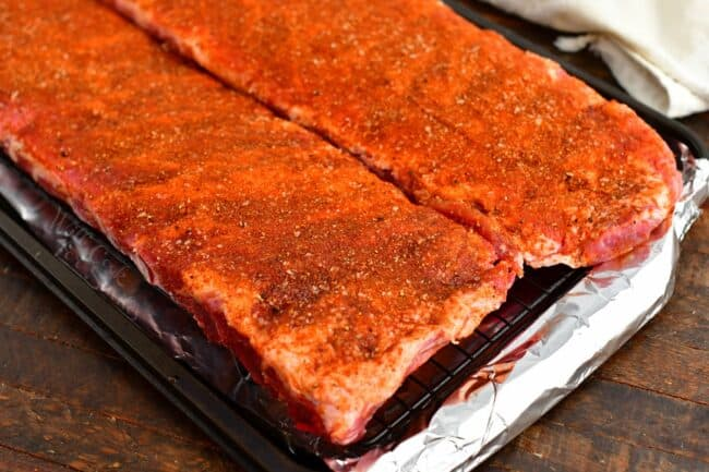 St. Louis ribs with dry rub for pork ribs
