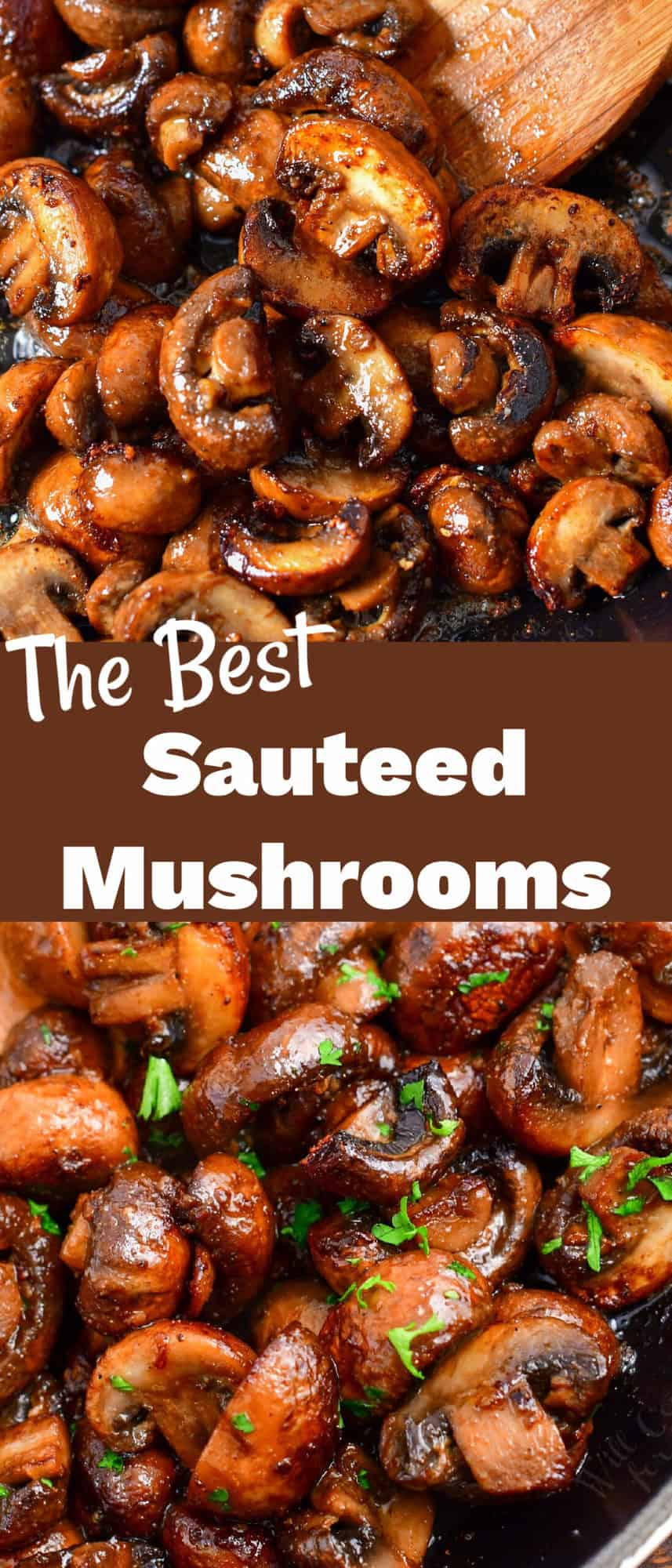 titled photo (and shown): The Best Sauteed Mushrooms