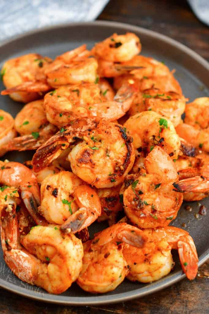 cooked seafood dinner on a plate